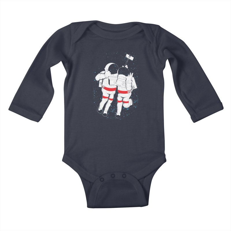 Spacie Kids Baby Longsleeve Bodysuit by The Salty Studios @ Threadless