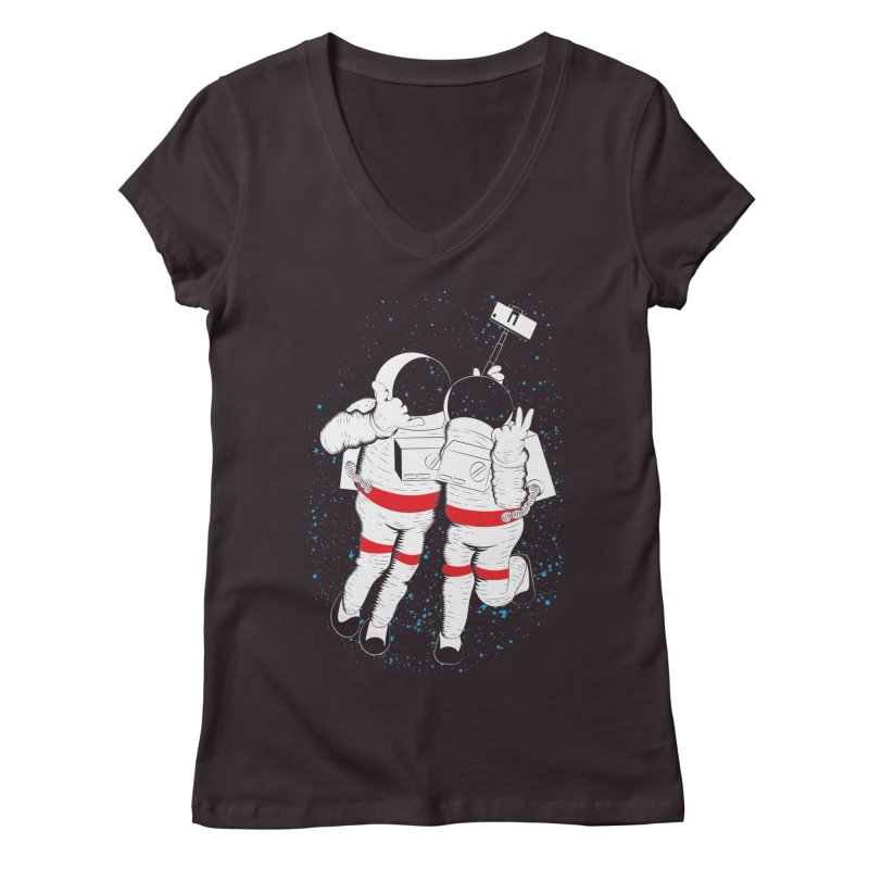 Spacie Women's V-Neck by The Salty Studios @ Threadless