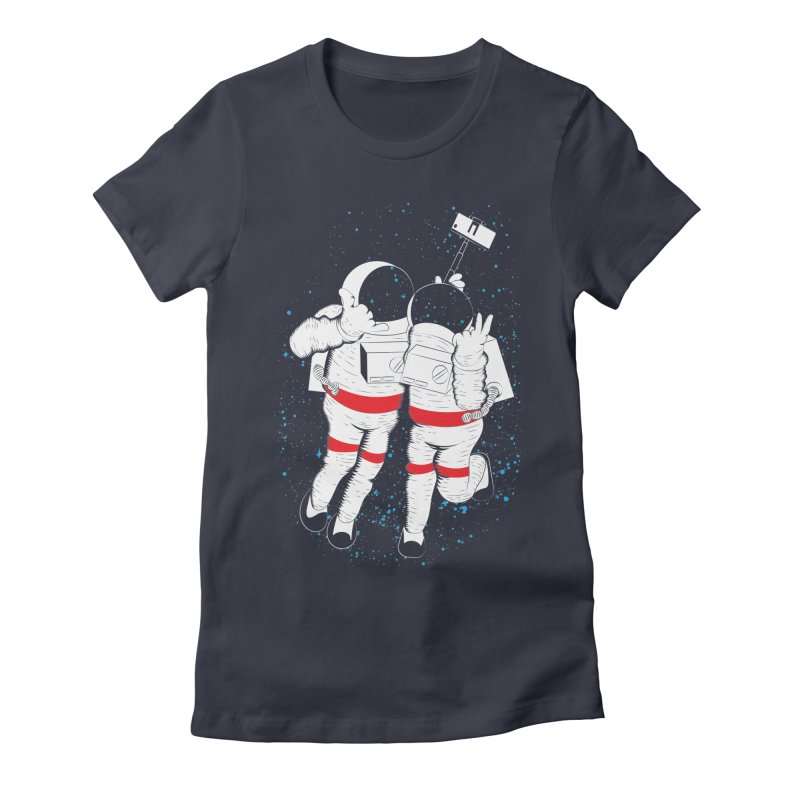 Spacie Women's Fitted T-Shirt by The Salty Studios @ Threadless