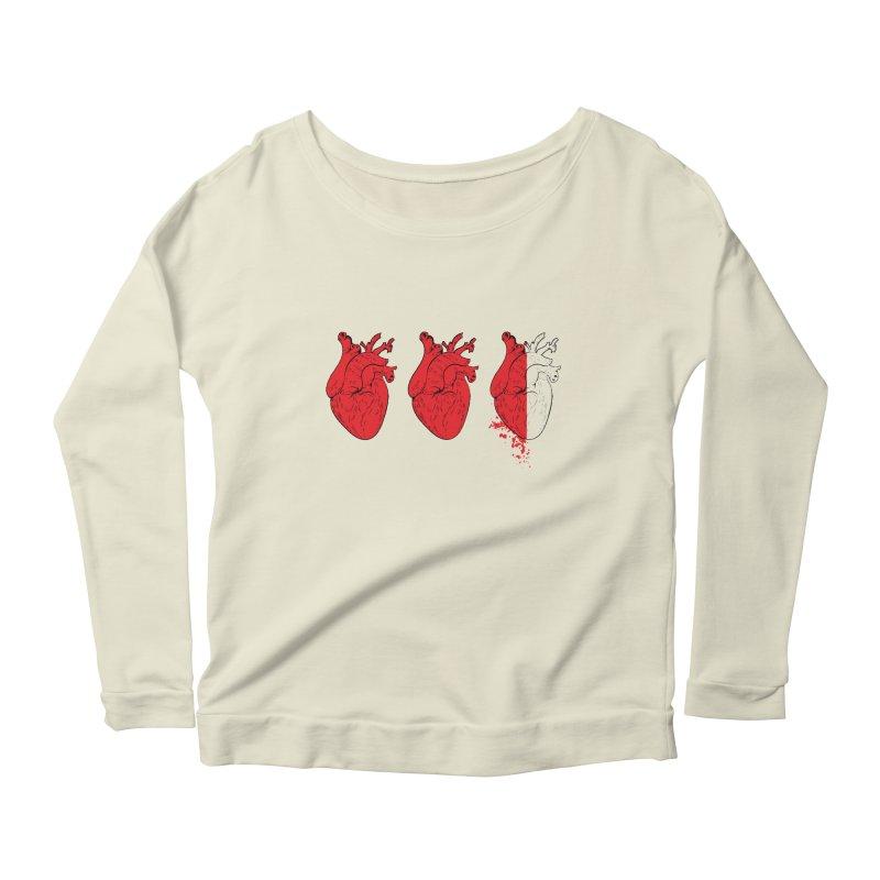 Heart Attacks Women's Longsleeve Scoopneck  by The Salty Studios @ Threadless