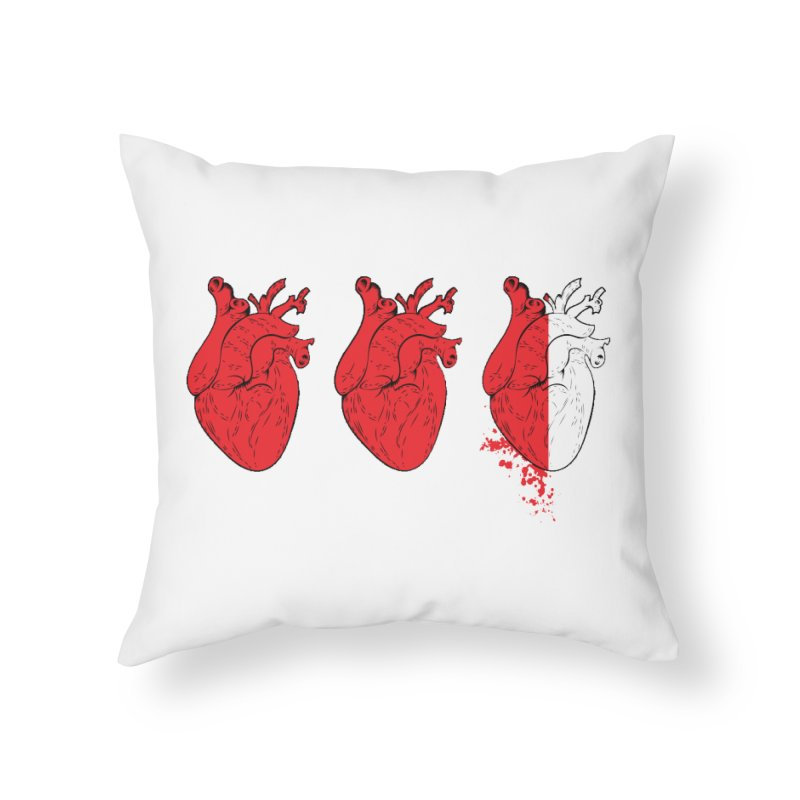 Heart Attacks Home Throw Pillow by The Salty Studios @ Threadless