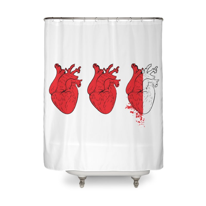 Heart Attacks Home Shower Curtain by The Salty Studios @ Threadless