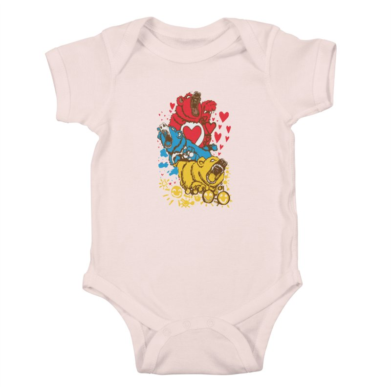 Scare Bears Kids Baby Bodysuit by The Salty Studios @ Threadless