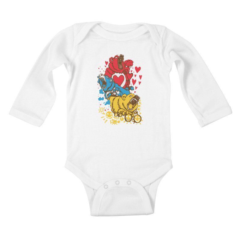 Scare Bears Kids Baby Longsleeve Bodysuit by The Salty Studios @ Threadless