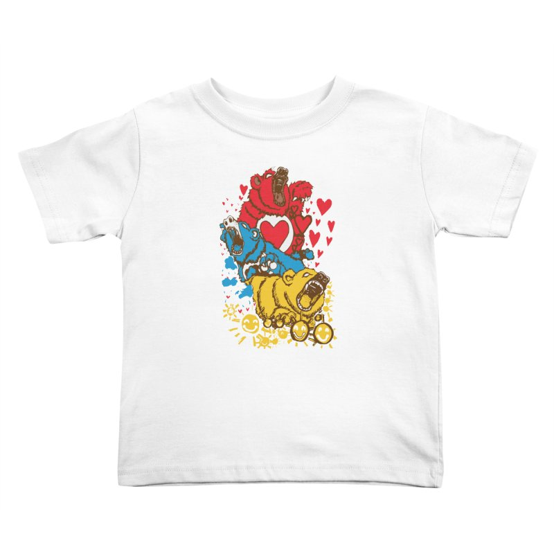 Scare Bears Kids Toddler T-Shirt by The Salty Studios @ Threadless