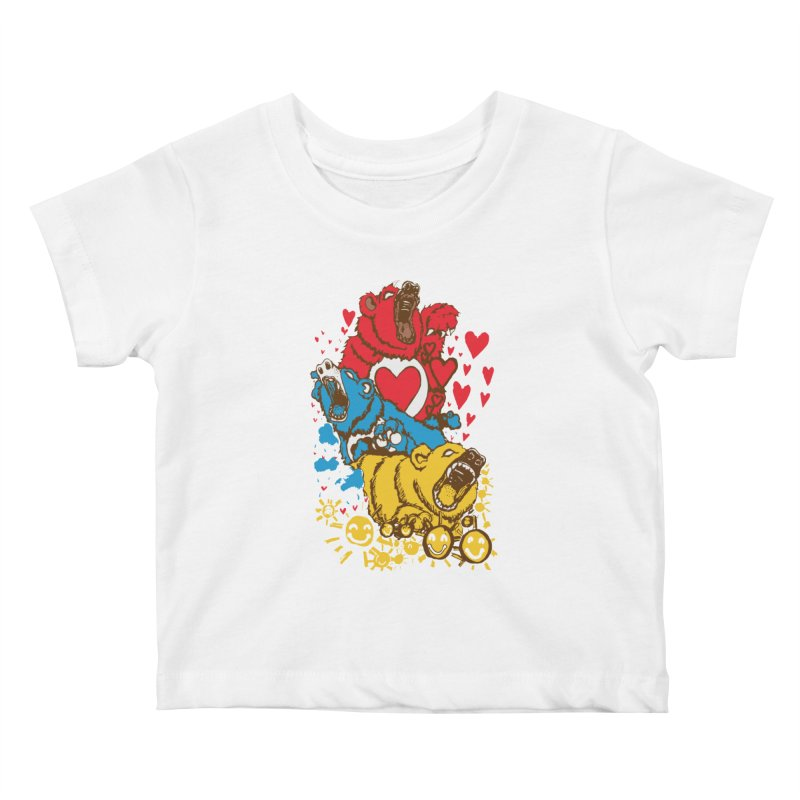 Scare Bears Kids Baby T-Shirt by The Salty Studios @ Threadless
