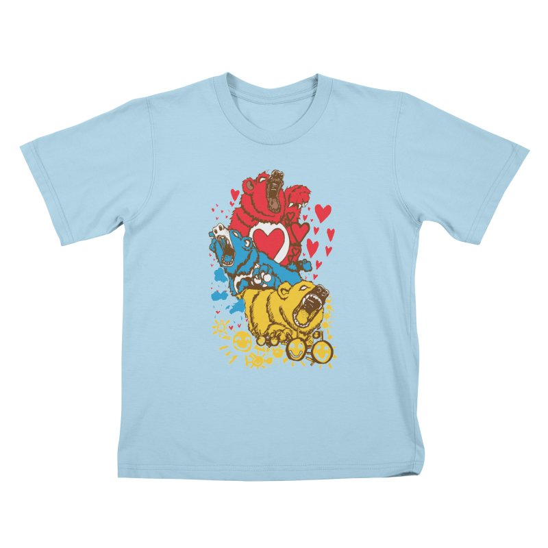 Scare Bears Kids T-shirt by The Salty Studios @ Threadless