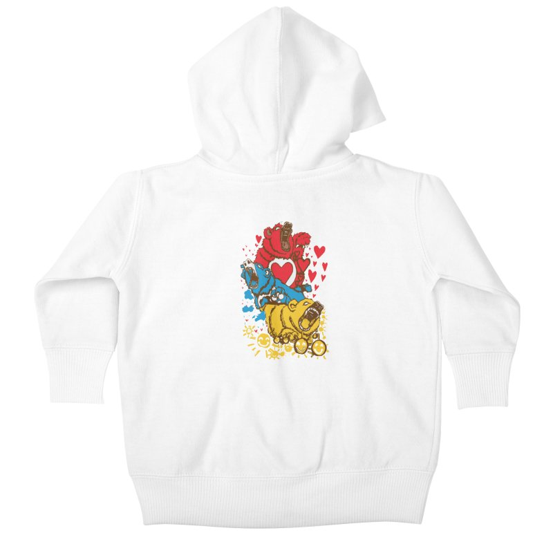Scare Bears Kids Baby Zip-Up Hoody by The Salty Studios @ Threadless