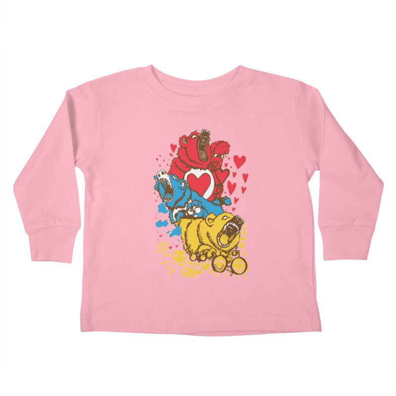 Scare Bears Kids Toddler Longsleeve T-Shirt by The Salty Studios @ Threadless