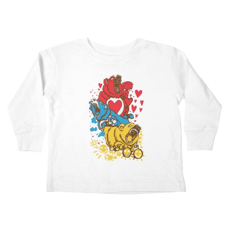 Scare Bears Kids Toddler Longsleeve T-Shirt by The Salty Studios @ Threadless