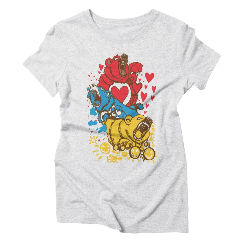 Scare Bears Women's Triblend T-shirt by The Salty Studios @ Threadless
