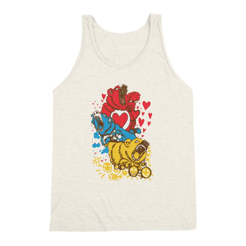 Scare Bears Men's Triblend Tank by The Salty Studios @ Threadless