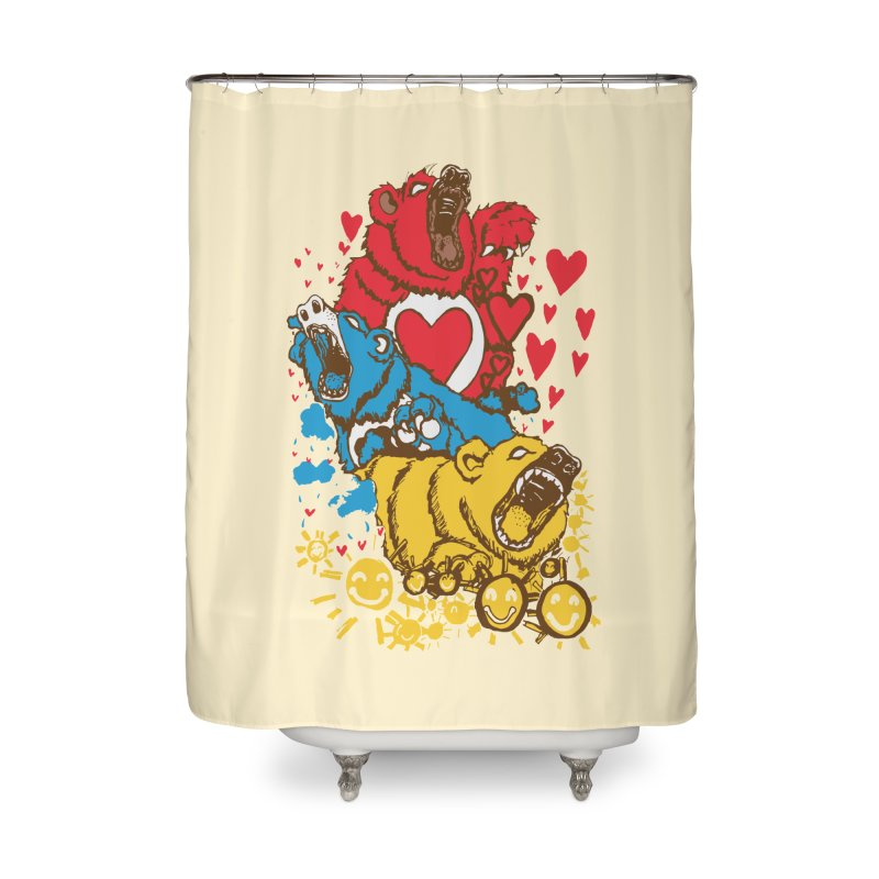 Scare Bears Home Shower Curtain by The Salty Studios @ Threadless