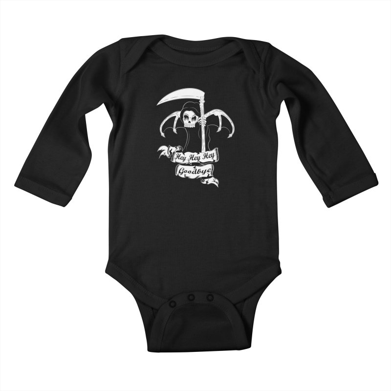 Kiss Em Goodbye Kids Baby Longsleeve Bodysuit by The Salty Studios @ Threadless
