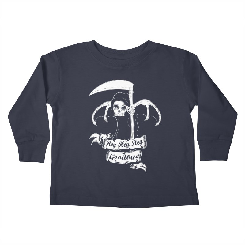 Kiss Em Goodbye Kids Toddler Longsleeve T-Shirt by The Salty Studios @ Threadless
