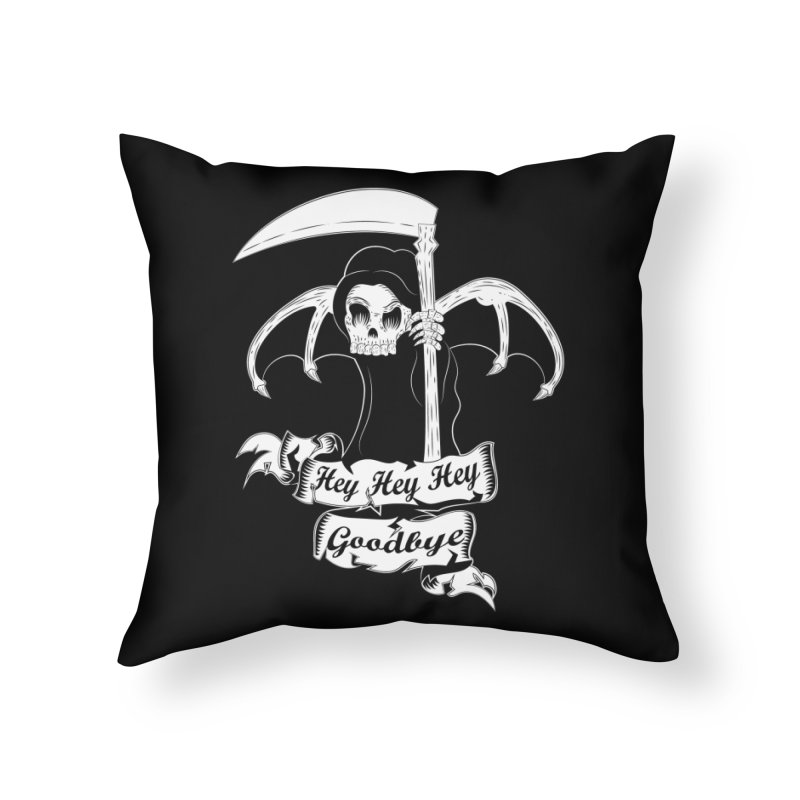Kiss Em Goodbye Home Throw Pillow by The Salty Studios @ Threadless