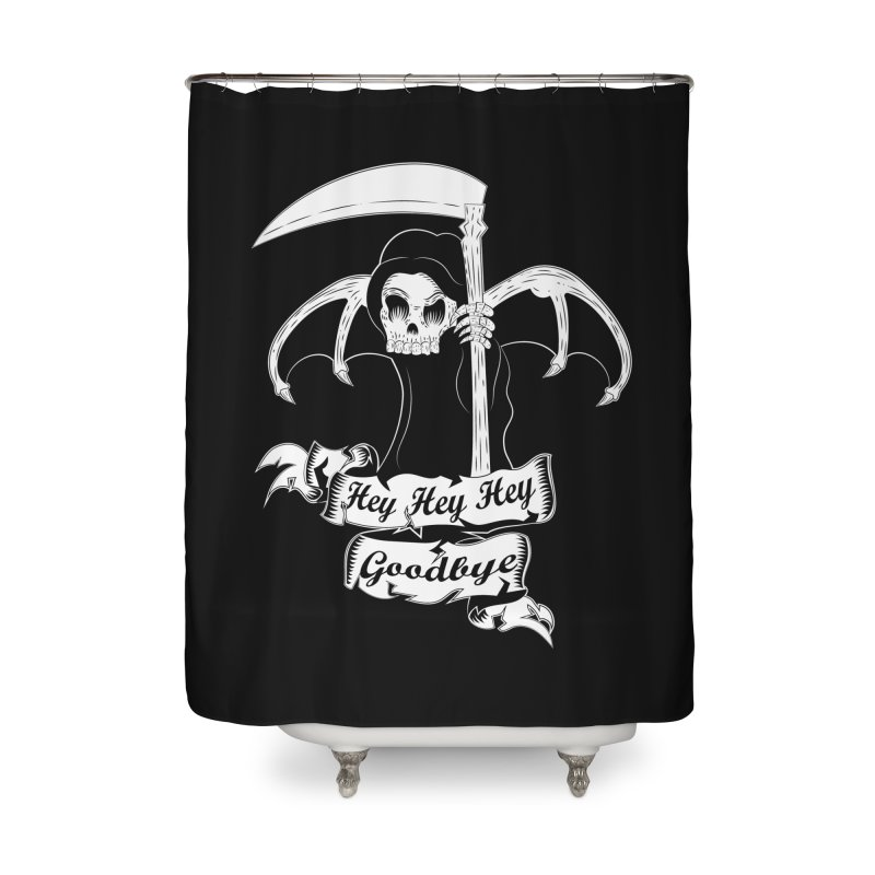 Kiss Em Goodbye Home Shower Curtain by The Salty Studios @ Threadless