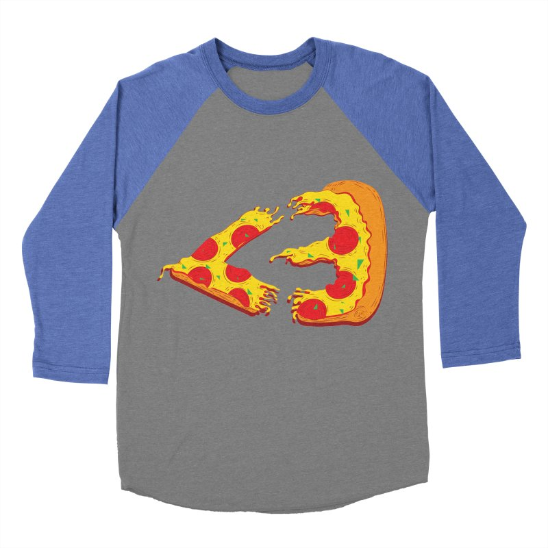 PizzaMoji Women's Baseball Triblend T-Shirt by The Salty Studios @ Threadless