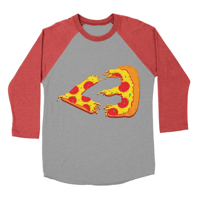 PizzaMoji Men's Baseball Triblend T-Shirt by The Salty Studios @ Threadless