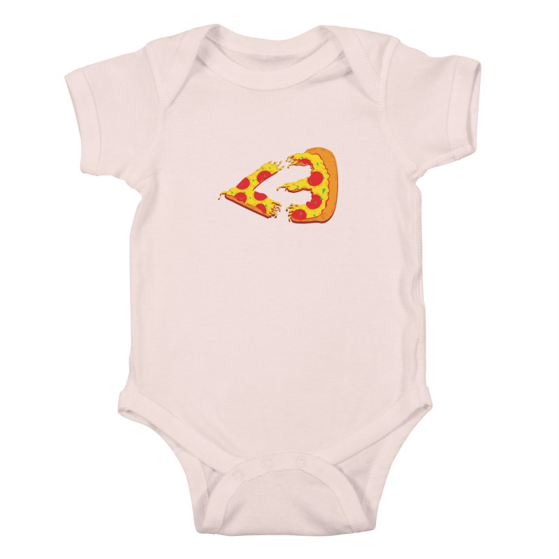 PizzaMoji Kids Baby Bodysuit by The Salty Studios @ Threadless