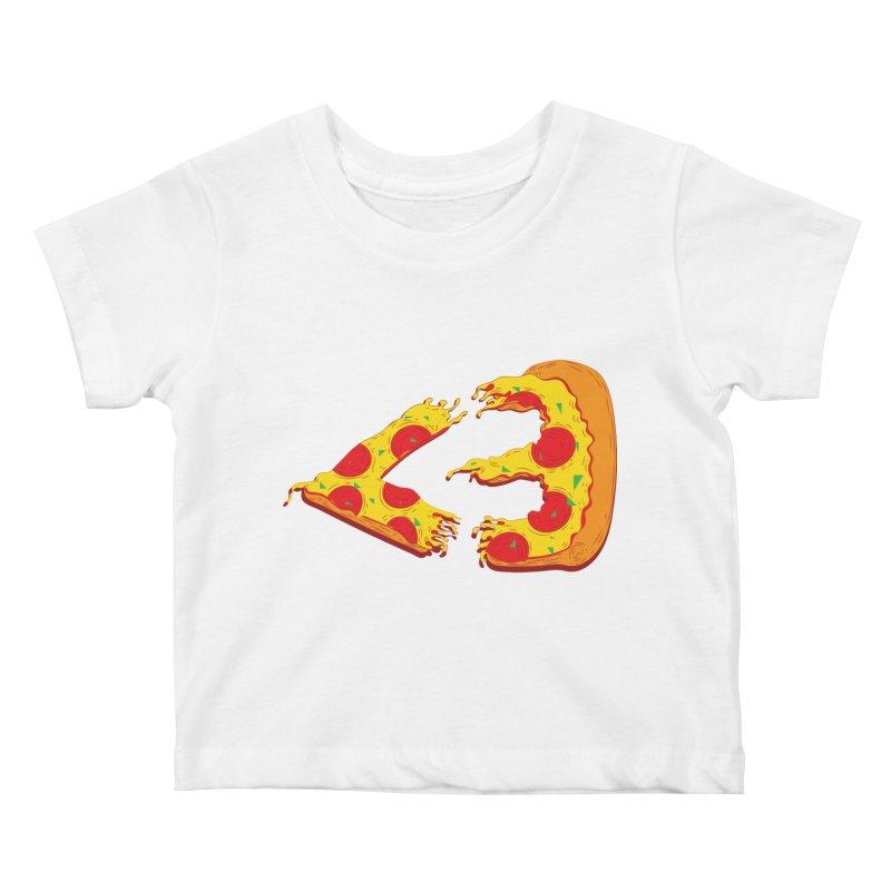 PizzaMoji Kids Baby T-Shirt by The Salty Studios @ Threadless