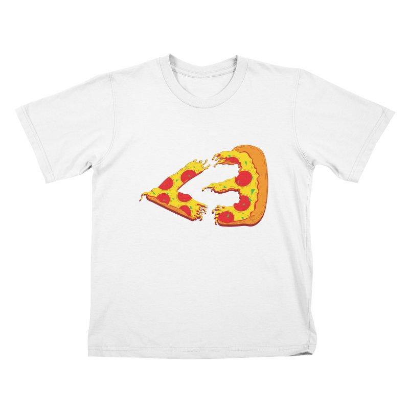 PizzaMoji Kids T-shirt by The Salty Studios @ Threadless