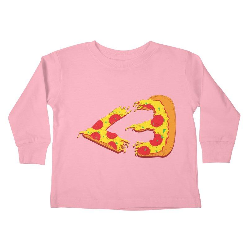 PizzaMoji Kids Toddler Longsleeve T-Shirt by The Salty Studios @ Threadless