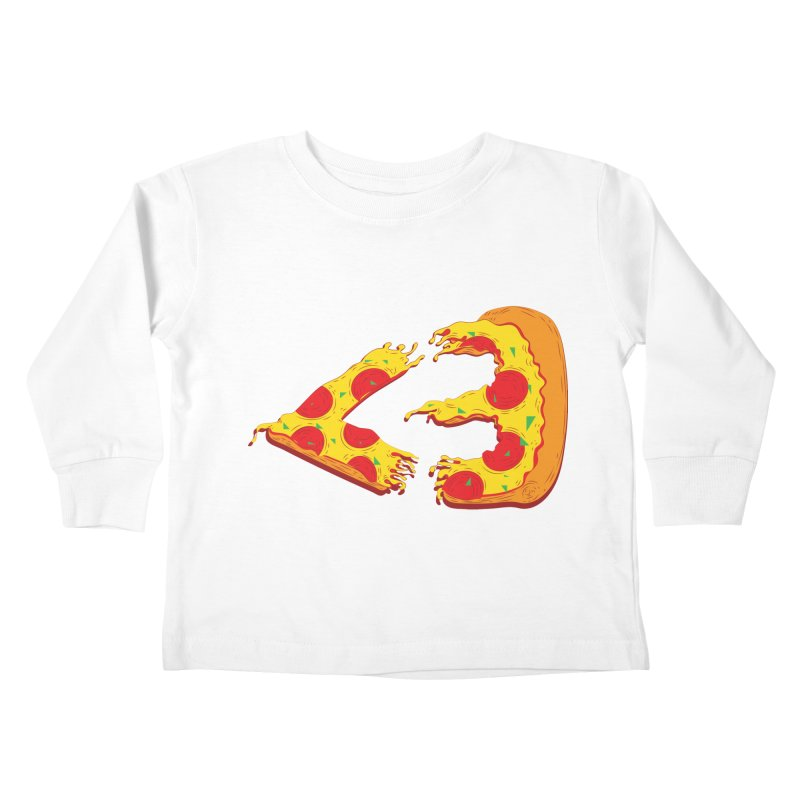 PizzaMoji Kids Toddler Longsleeve T-Shirt by The Salty Studios @ Threadless