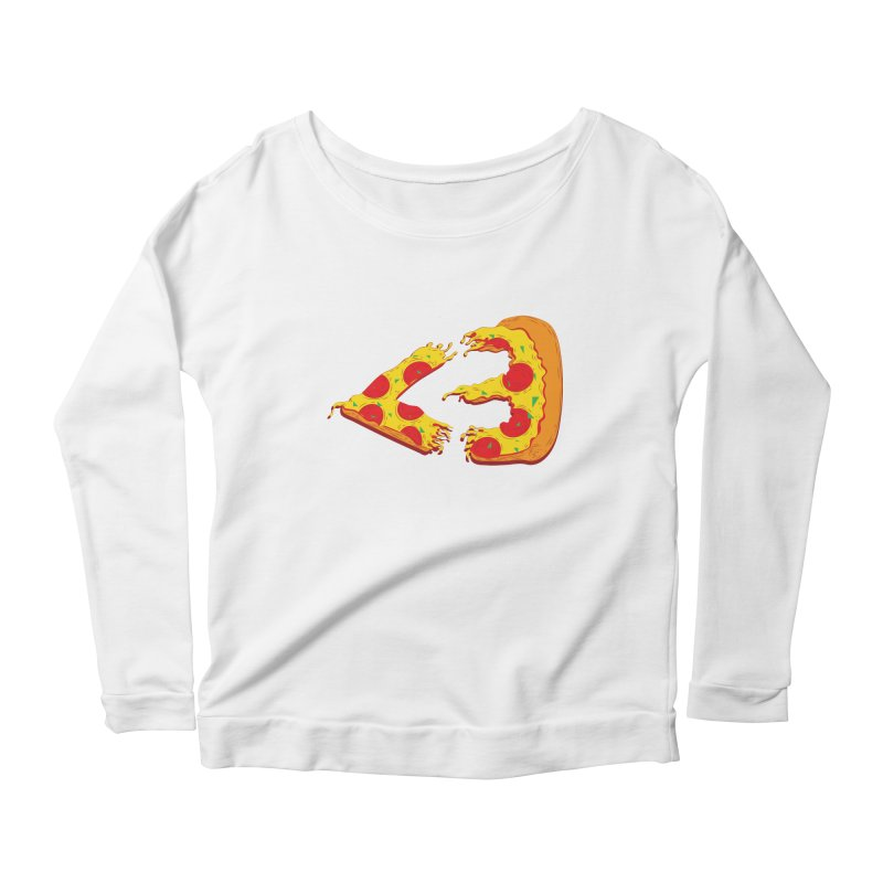 PizzaMoji Women's Longsleeve Scoopneck  by The Salty Studios @ Threadless