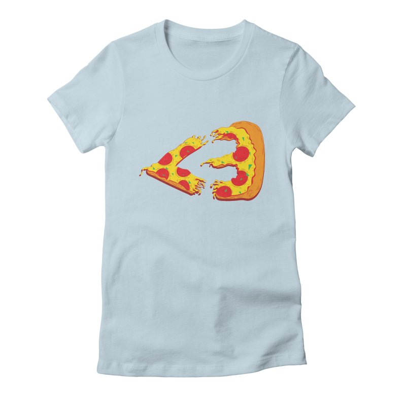 PizzaMoji Women's Fitted T-Shirt by The Salty Studios @ Threadless