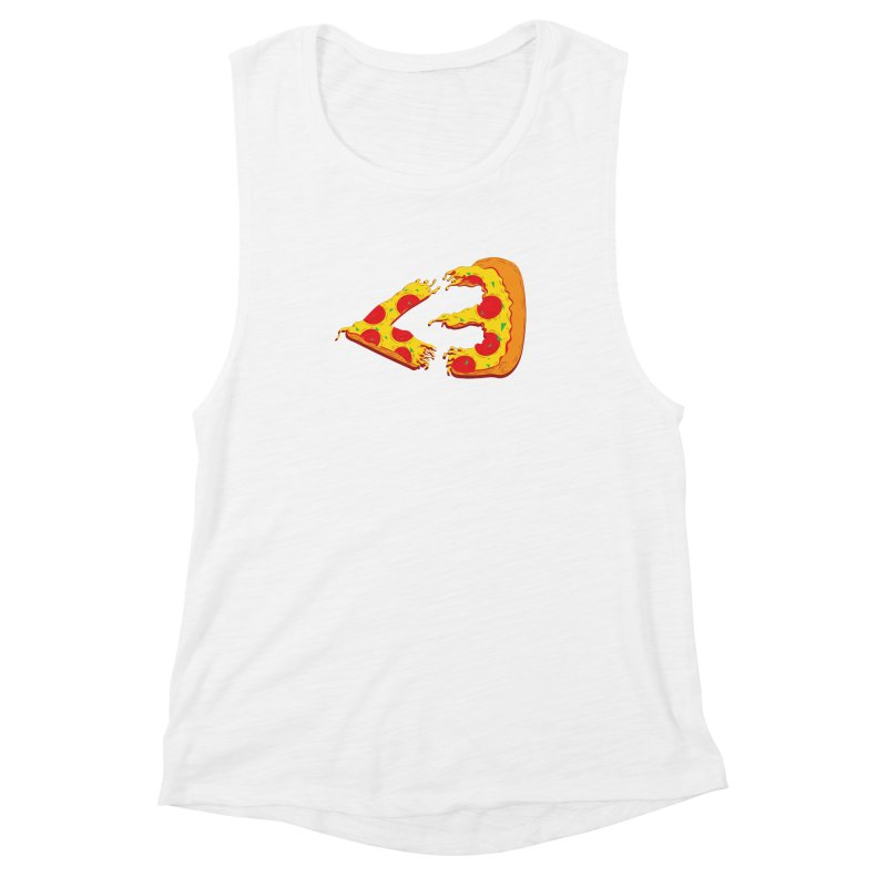 PizzaMoji Women's Muscle Tank by The Salty Studios @ Threadless