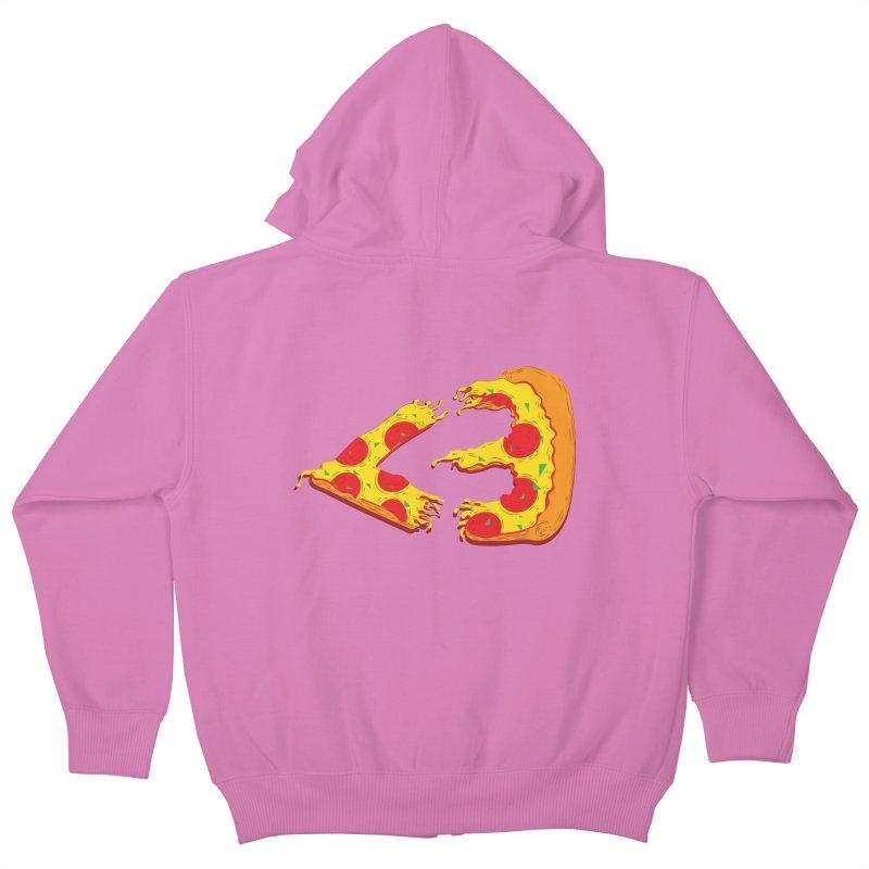 PizzaMoji Kids Zip-Up Hoody by The Salty Studios @ Threadless