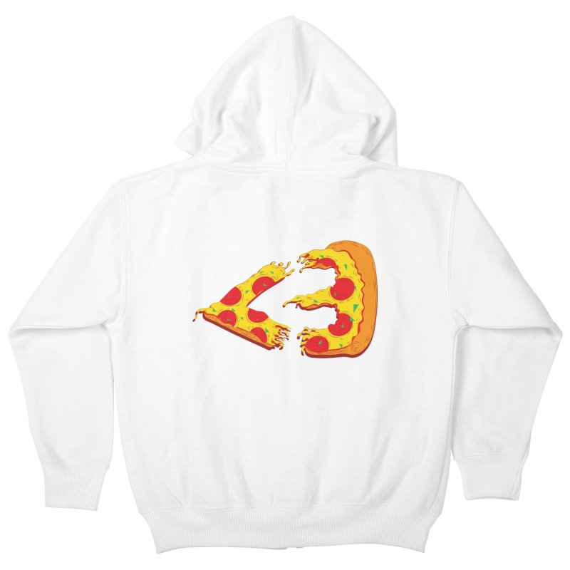 PizzaMoji Kids Zip-Up Hoody by The Salty Studios @ Threadless