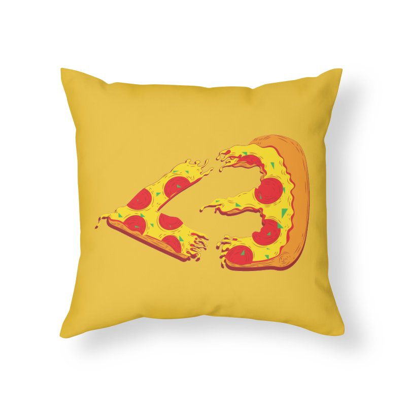 PizzaMoji Home Throw Pillow by The Salty Studios @ Threadless