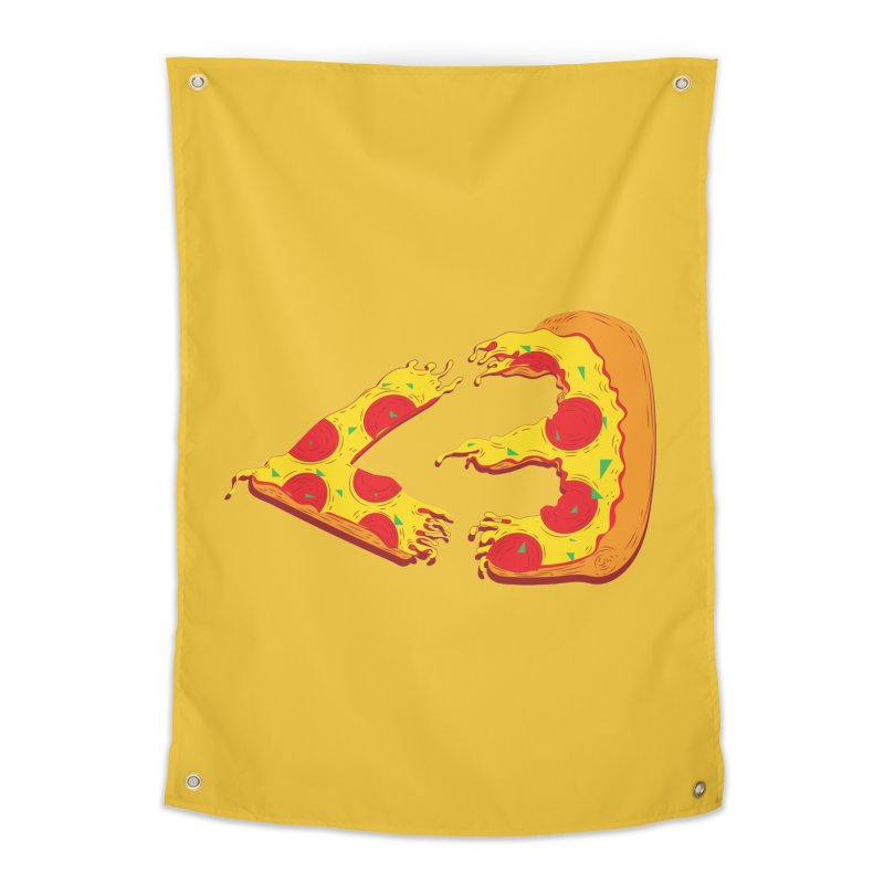 PizzaMoji Home Tapestry by The Salty Studios @ Threadless
