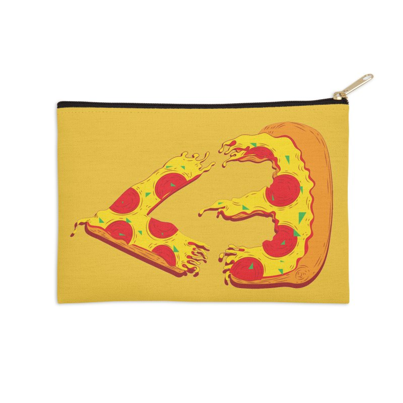 PizzaMoji Accessories Zip Pouch by The Salty Studios @ Threadless