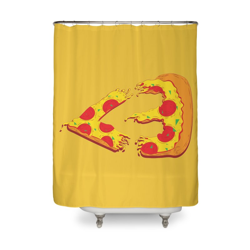 PizzaMoji Home Shower Curtain by The Salty Studios @ Threadless