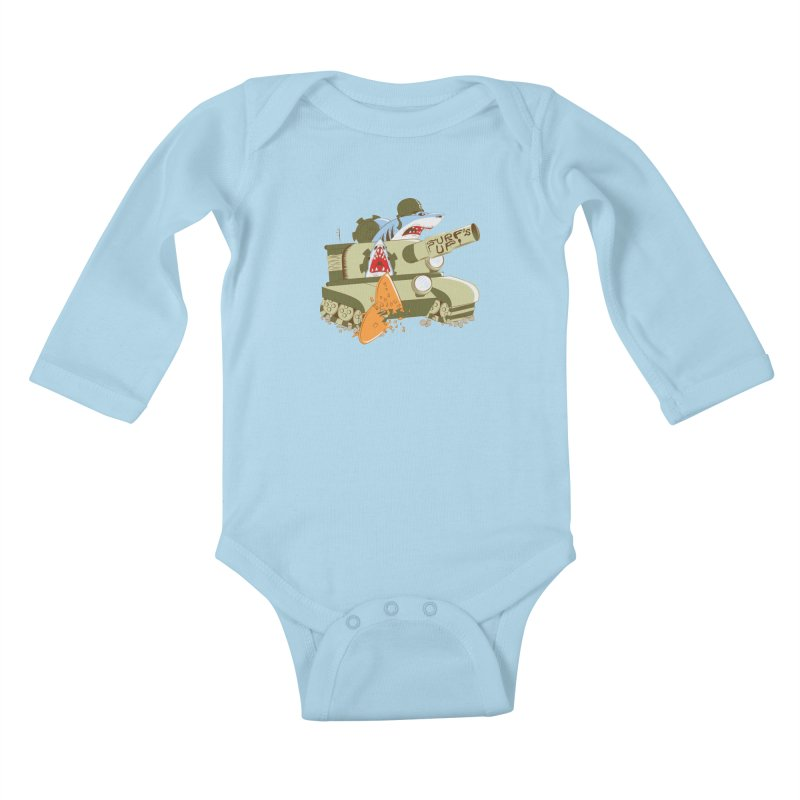 Shark Tank Kids Baby Longsleeve Bodysuit by The Salty Studios @ Threadless