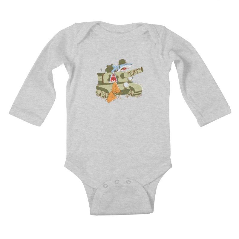 Shark Tank Kids Baby Longsleeve Bodysuit by The Salty Studios @ Threadless