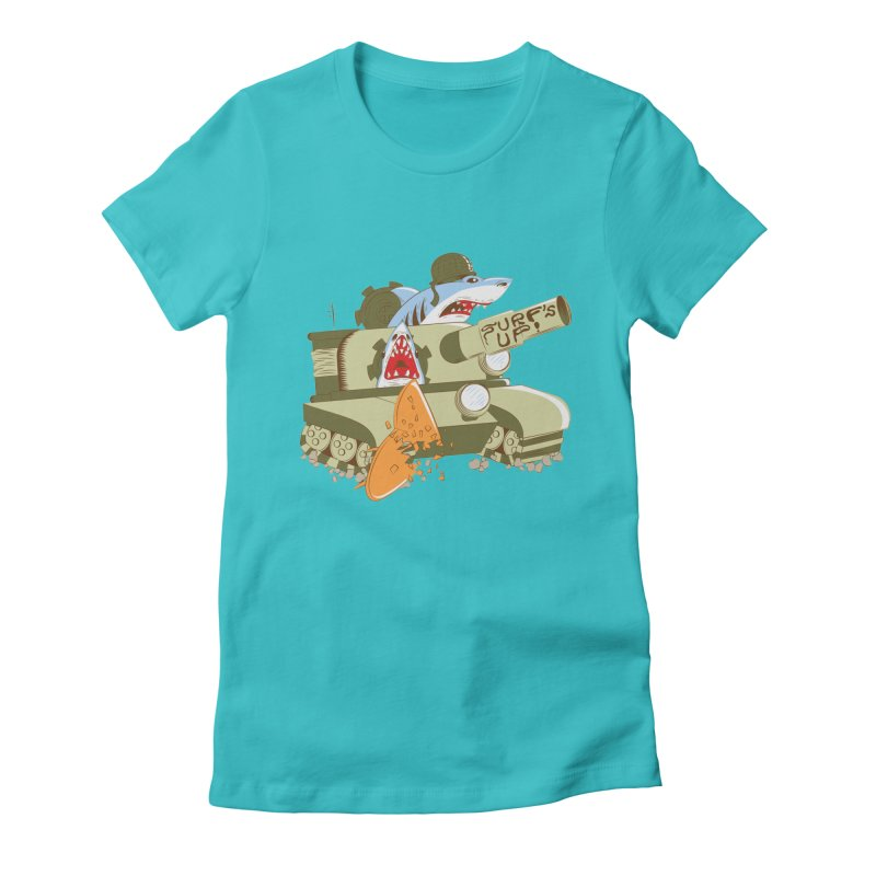 Shark Tank Women's Fitted T-Shirt by The Salty Studios @ Threadless