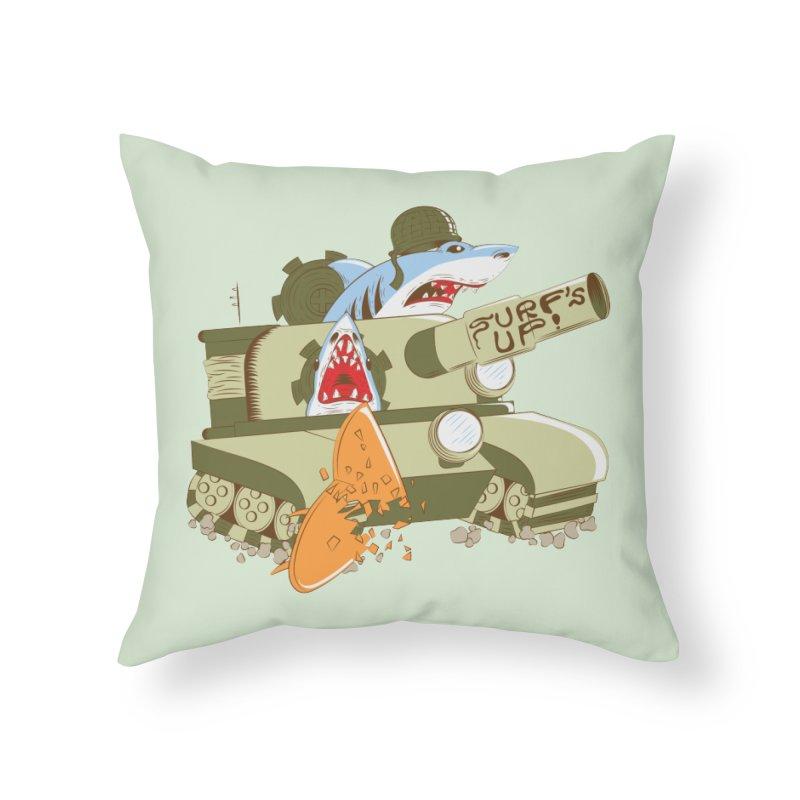Shark Tank Home Throw Pillow by The Salty Studios @ Threadless