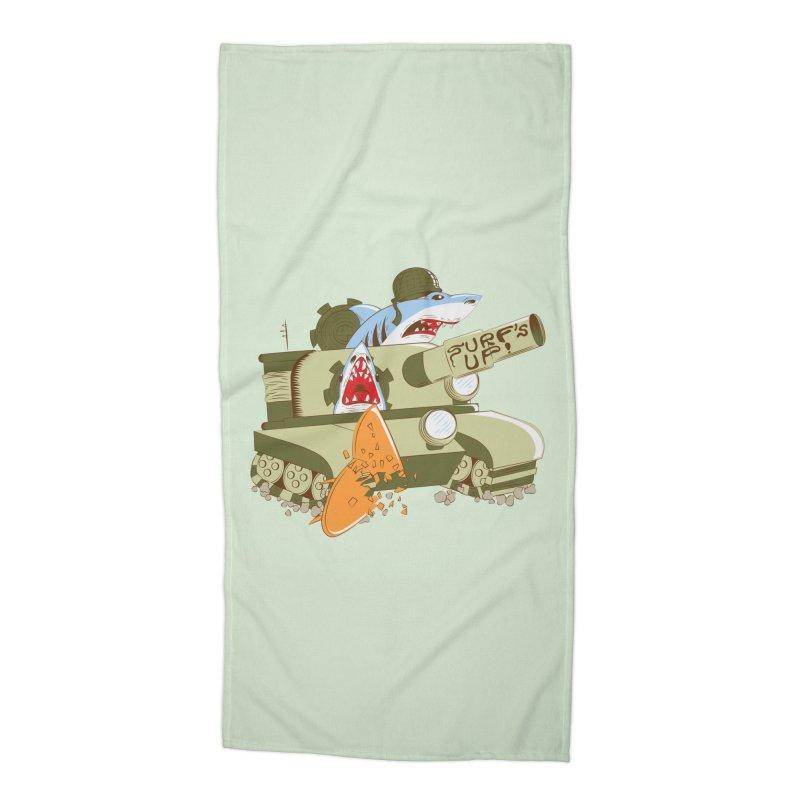 Shark Tank Accessories Beach Towel by The Salty Studios @ Threadless