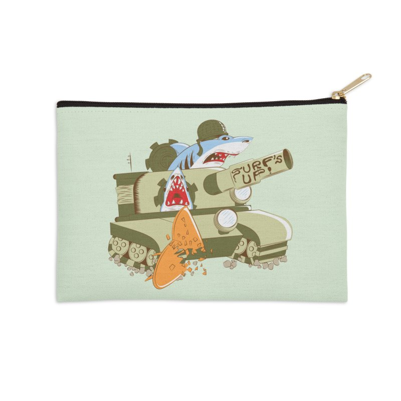 Shark Tank Accessories Zip Pouch by The Salty Studios @ Threadless