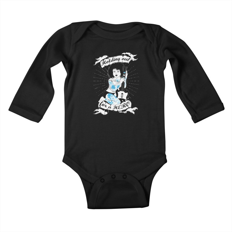 Heroes Needed Kids Baby Longsleeve Bodysuit by The Salty Studios @ Threadless
