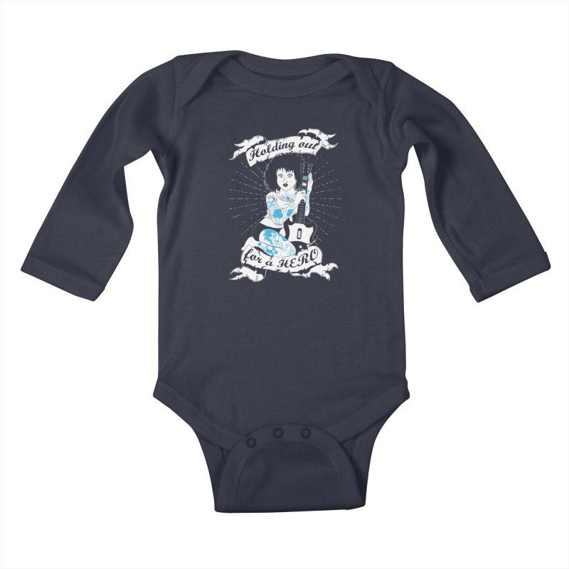 Heroes Needed Kids Baby Longsleeve Bodysuit by The Salty Studios @ Threadless
