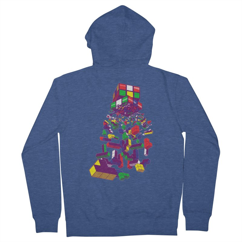 The God Cube Men's Zip-Up Hoody by The Salty Studios @ Threadless