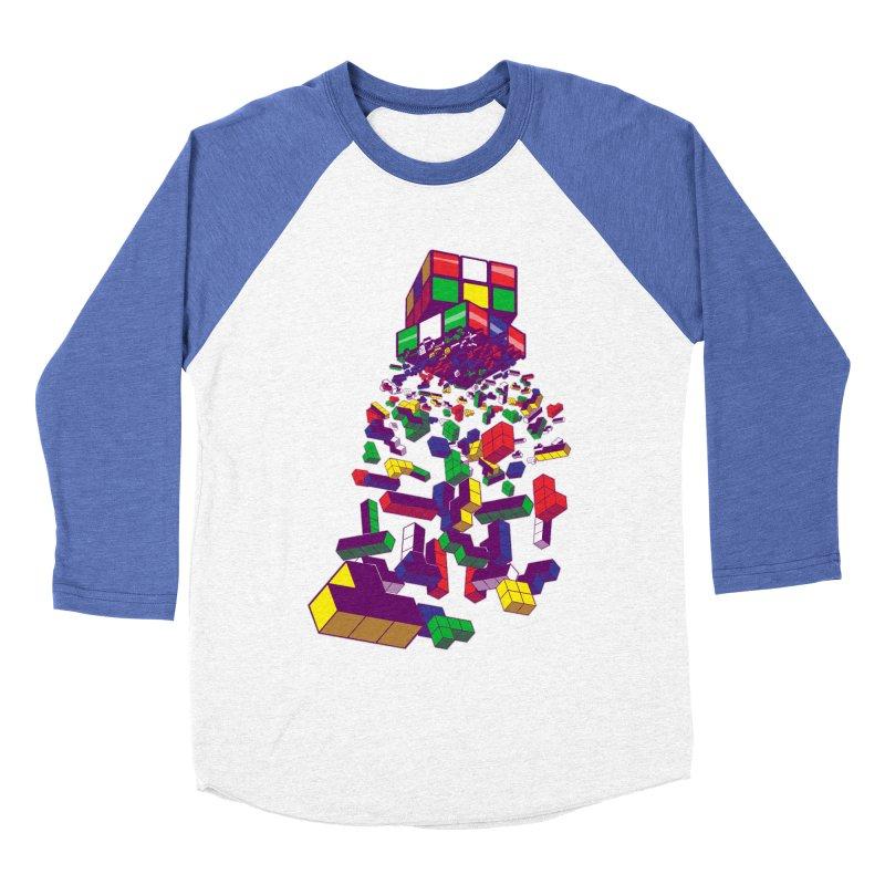 The God Cube Men's Baseball Triblend T-Shirt by The Salty Studios @ Threadless