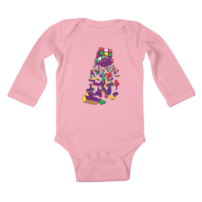 The God Cube Kids Baby Longsleeve Bodysuit by The Salty Studios @ Threadless