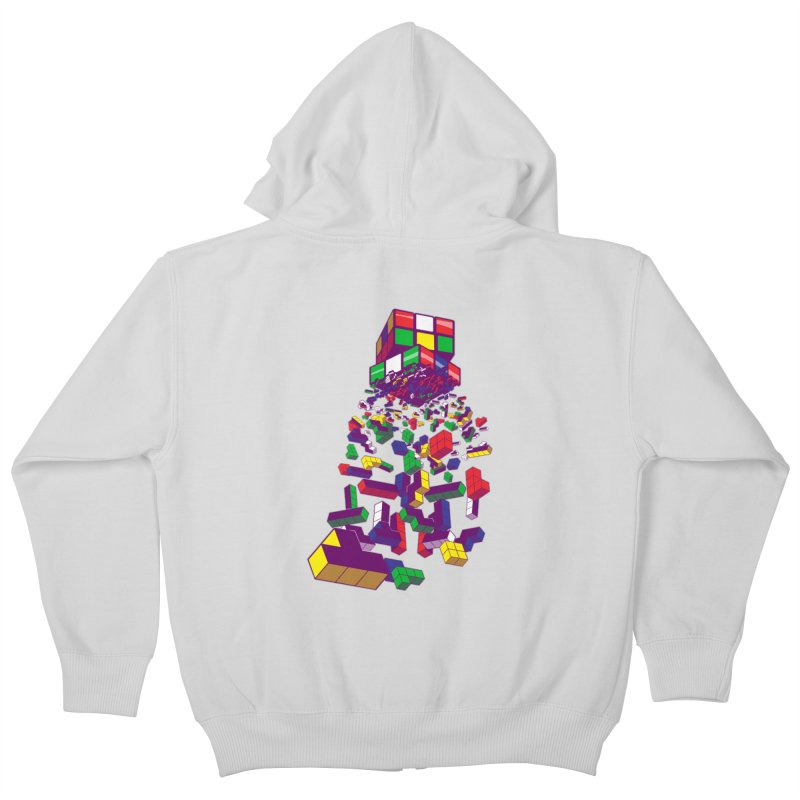 The God Cube Kids Zip-Up Hoody by The Salty Studios @ Threadless