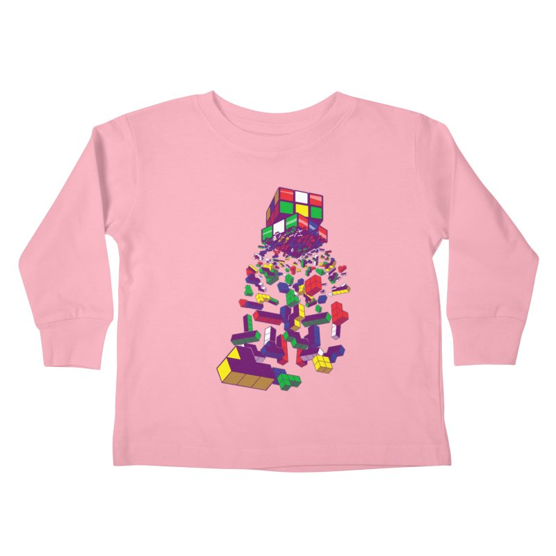 The God Cube Kids Toddler Longsleeve T-Shirt by The Salty Studios @ Threadless